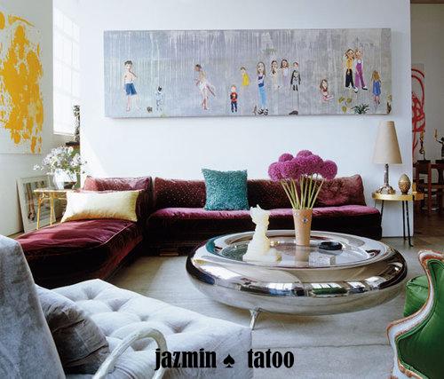 ديكورات غرف استقبال تصاميم حلوه للانتريهات 2012 صور