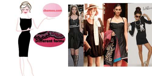 a43620bdf3987 هالموسم ظهر الفستان الأسود بقوة لكن بأشكال وقصات متعددة