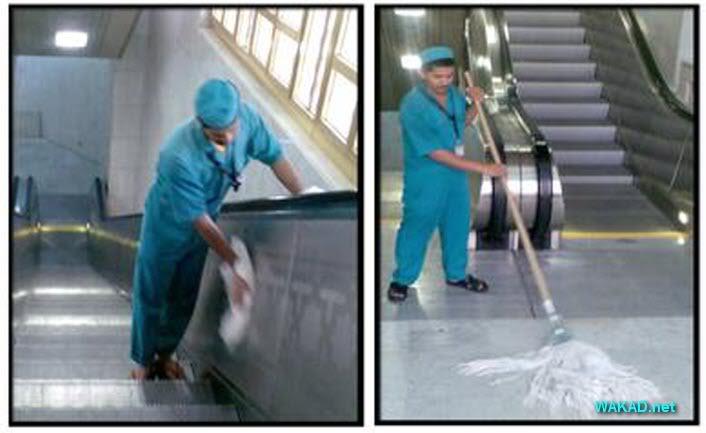 عملية نظافة الحرم المكي الشريف