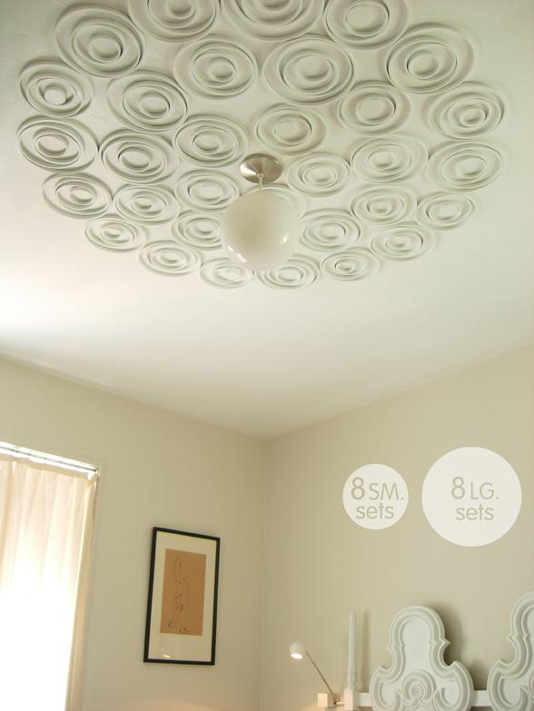 Чем задекорировать потолок своими руками
