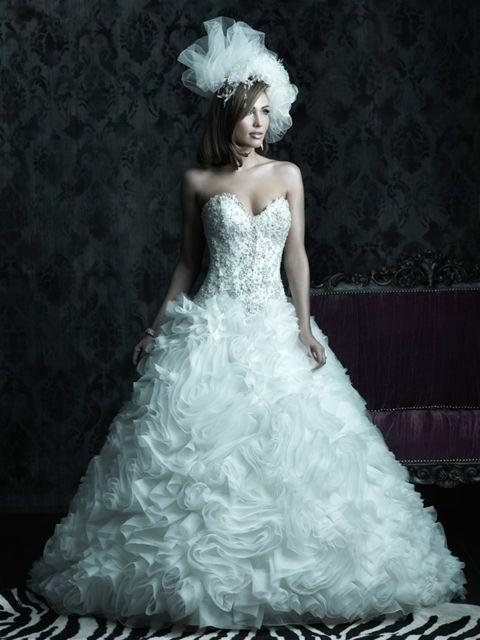 فساتين زفاف فرنسية 2014 فساتين