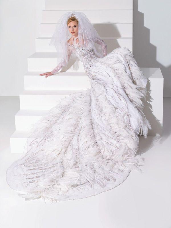 مدل جديد لباس عروس تور و پر 2015