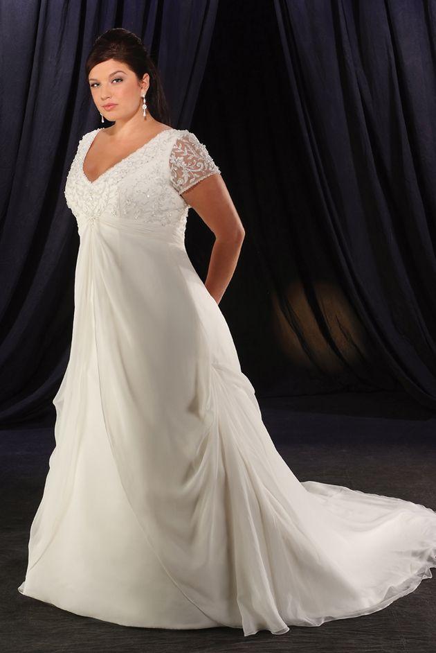 Свадебные платья для полных девушек с закрытыми