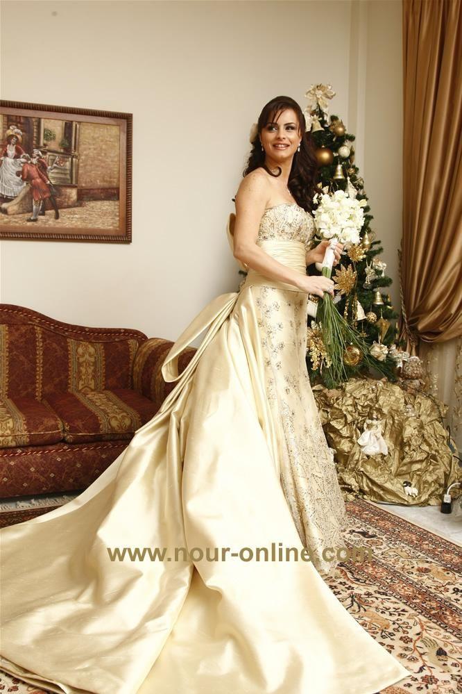 فساتين زفاف الفنانات 2012 ، صور فساتين