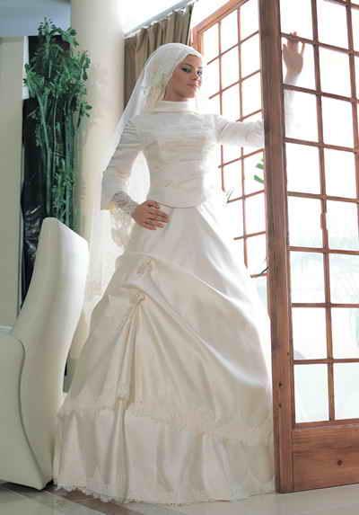 فساتين محجبات للزفاف 2013 ، فساتين زفاف