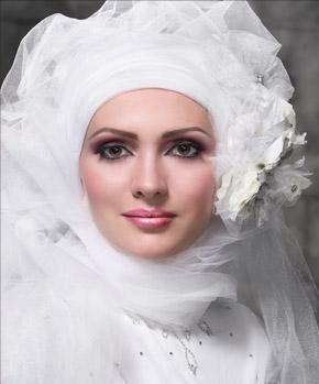 لفات للعروسه لفات حجاب للعروسه