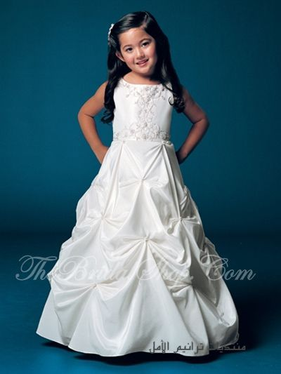 bdbc336911236 فساتين اطفال للآعراس 2012 ، اروع لبس افراح للبنات الصغار 2013 ، فساتين  بيضاء للاطفال