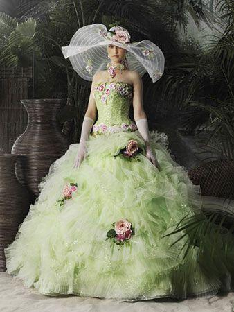 فساتين زفاف ملونة اجدد ازياء