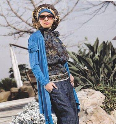 بلوزات وفساتين محجبات روعة أجمل بلوزات محجبات لعام 2013