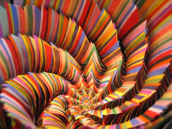 اشغال رائعة من الاوراق الملونة ، صور