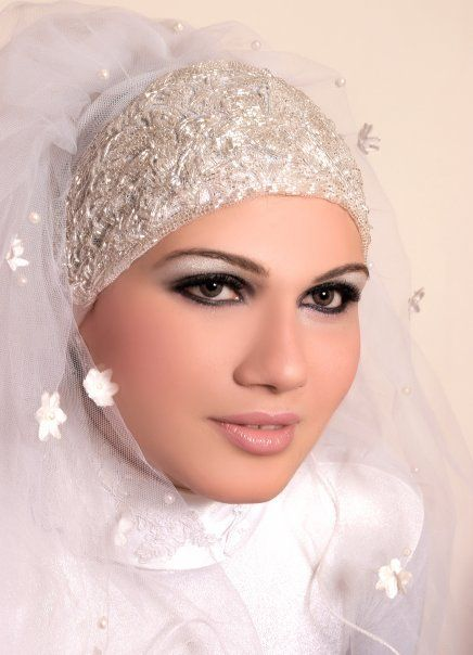 مكياج عرايس محجبات 2012 مكياج