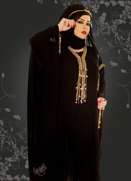 4ddfe6a32a729 عبايات سعودى سوداء 2012 ، اشيك تصميمات عبايات 2013 ، احدث عبايات سوداء  سعودية