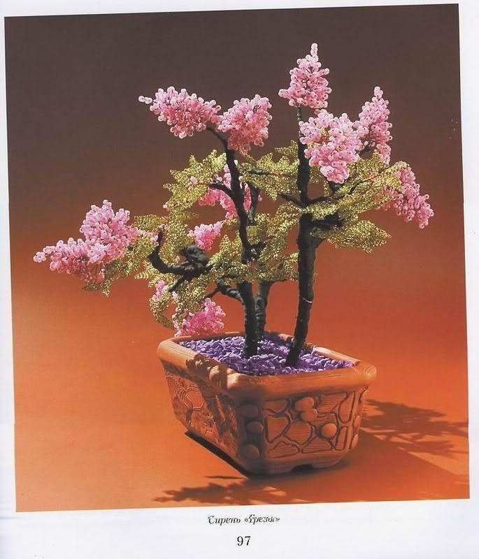 الخرز ، طريقة صنع اشجار من الخرز