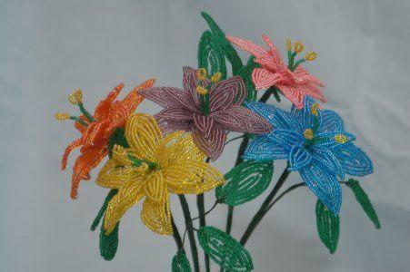صور باقات ورد من الخرز ، باقات زهور من