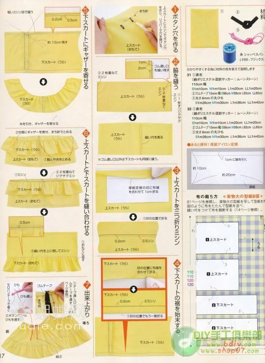 65b2a0492 باترون خياطة تنورة ، خياطة تنورة كلوش ، عمل تنورة كلوش