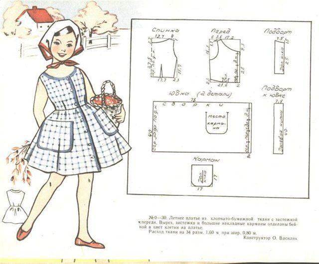 Выкройка для детского нарядного платья 2