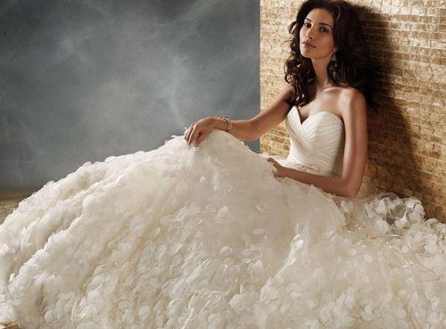 99098b4efcfd0 كولكشن جديد لفساتين الزفاف 2013 ، ارقى فساتين الزفاف ، فساتين زفاف ناعم موضة  2014