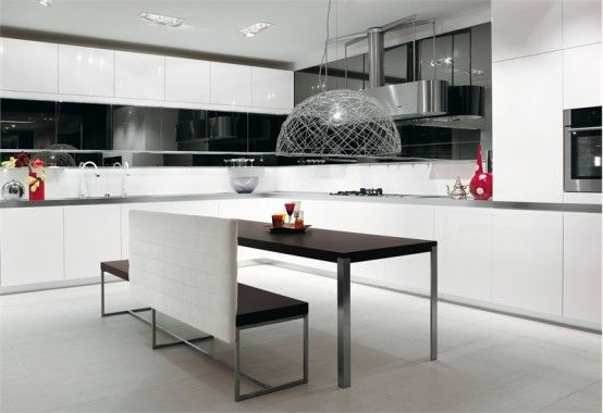 أرقى المطابخ مطابخ باللون الأسود مطابخ سوداء اللون مطبخ جميل أسود مطبخ اسود