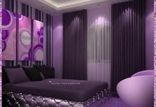 غرف نوم باللون الموف